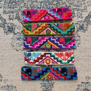 Peruvian  colorful handmade headbands